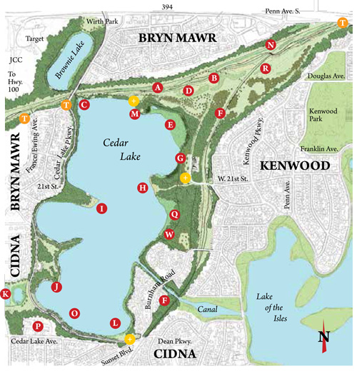 Cedar Lake Park feature map